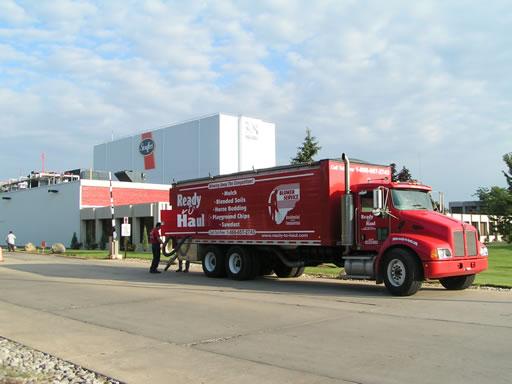 Northeast ohio mulch blower service ready to haul